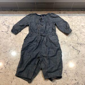 Baby gap denim jumpsuit
